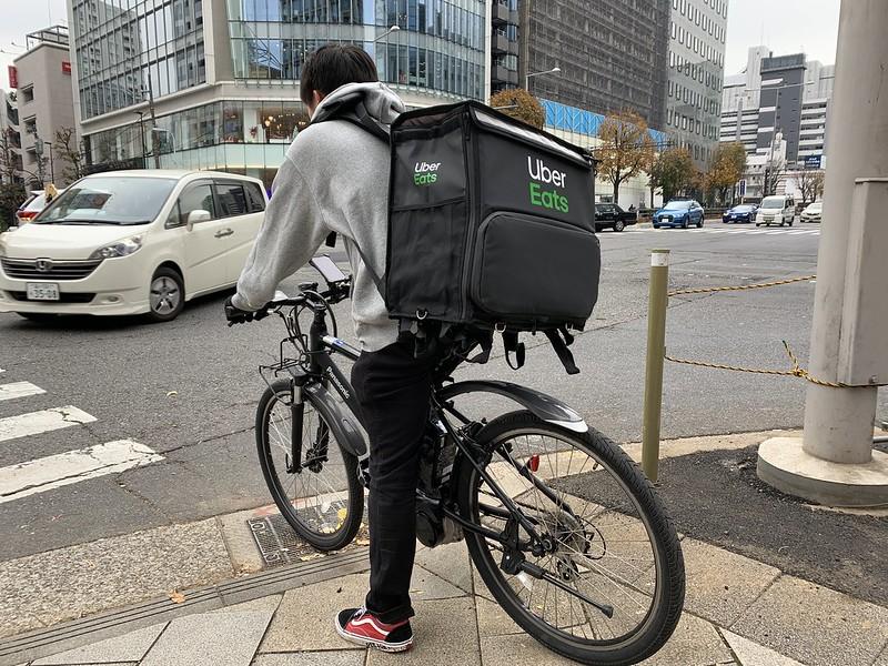 Livreur Deliveroo en vélo