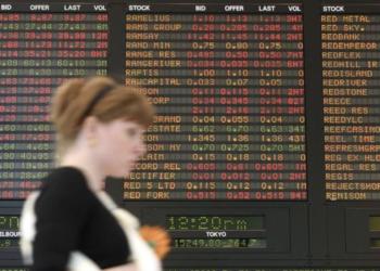 Image d'un écran donnant la bourse