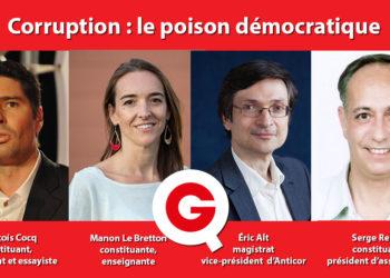 Affiche de l'émission Quartier Constituant sur la corruption