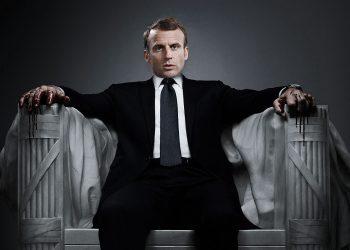 Emmanuel Macron en Frank Underwoods d'House of Cards