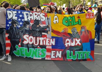 Fortes mobilisations dans les rues de Paris en soutien au peuple colombien le 8 mai 2021